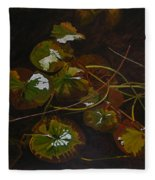 Lake Washington Lily Pad 16 Fleece Blanket