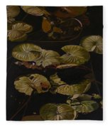 Lake Washington Lily Pad 9 Fleece Blanket