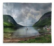 Lake Willoughby  Panorama One Fleece Blanket
