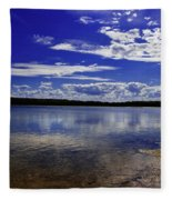 Lake Wollumboola Memories  Fleece Blanket