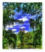 Lakeboat In Central Park Too Fleece Blanket