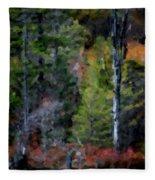 Lakeside In The Autumn Fleece Blanket