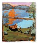 Lakeside Retreat Fleece Blanket