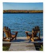 Lakeside Seating For Two Fleece Blanket