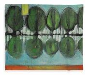 Lakeside Trees Fleece Blanket