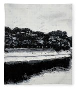 Lal Bagh Lake 4 Fleece Blanket
