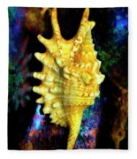 Lambis Digitata Seashell Fleece Blanket