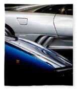 Lamborghini Countach And Lamborghini Diablo Fleece Blanket
