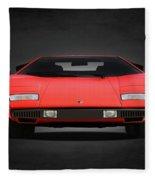 Lamborghini Countach Fleece Blanket