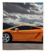Lamborghini Exotic Car Fleece Blanket
