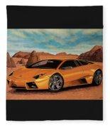 Lamborghini Reventon 2007 Painting Fleece Blanket