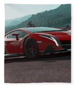 Lamborghini Veneno Fleece Blanket