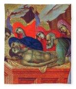 Lamentation Of Christ Fragment 1311 Fleece Blanket