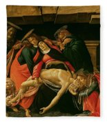 Lamentation Of Christ Fleece Blanket