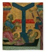 Lamentation Of The Dead Christ Fleece Blanket