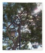 Lamp And Tree Fleece Blanket