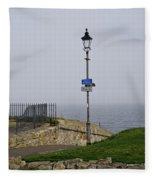 Lamppost Near The Sea. Fleece Blanket