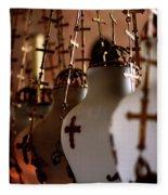 Lamps Inside The Church Of The Holy Sepulchre, Jerusalem Fleece Blanket