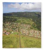 Lanai City Aerial Fleece Blanket
