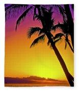 Lanai Sunset II Maui Hawaii Fleece Blanket