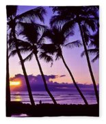 Lanai Sunset Fleece Blanket