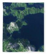 Land Of A Thousand Lakes Fleece Blanket