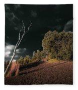 Land Of Devastation Fleece Blanket