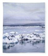 Land Of Ice Fleece Blanket