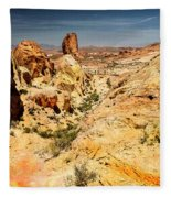 Land Of Sandstones Valley Of Fire Fleece Blanket