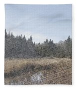Land Of The 5 Bogs Fleece Blanket