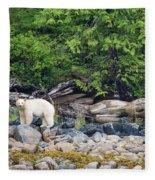 Land Of The Spirit Bear Fleece Blanket