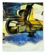 Landed Imperial Shuttle - Pa Fleece Blanket