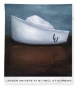 Lander University School Of Nursing Fleece Blanket