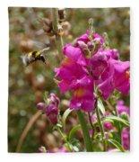Landing Bumblebee Fleece Blanket