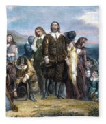 Landing Of Pilgrims, 1620 Fleece Blanket