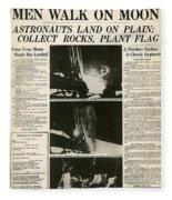 Landing On Moon, 1969 Fleece Blanket