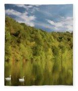 Landingville Lake Pennsylvania Fleece Blanket