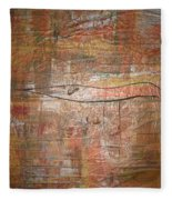 Landscape - Gold Fleece Blanket