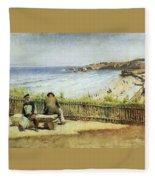 Landscape 02 Konstantin Makovsky Fleece Blanket