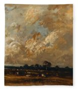 Landscape 1870 Fleece Blanket