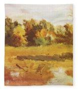 Landscape 1884 Fleece Blanket