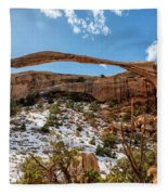 Landscape Arch - Arches National Park Moab Utah Fleece Blanket