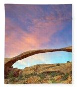 Landscape Arch Sunrise Fleece Blanket