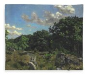 Landscape At Chailly Fleece Blanket