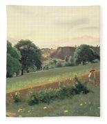 Landscape At Mornex Fleece Blanket