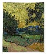 Landscape At Twilight Auvers Sur Oise June 1890 Vincent Van Gogh 1853  189 Fleece Blanket