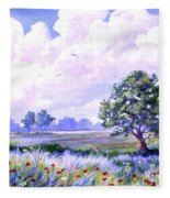 Landscape In Blues Fleece Blanket