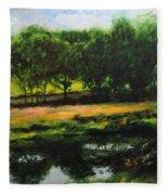 Landscape In North Wales Fleece Blanket