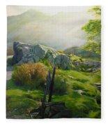 Landscape In Wales Fleece Blanket