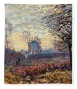 Landscape Near Louveciennes Fleece Blanket
